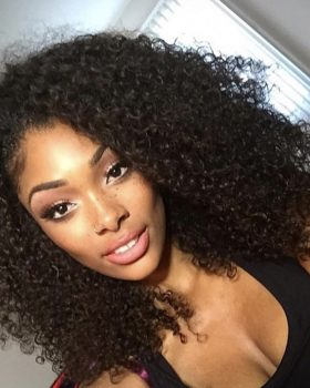 Kinki curly hair